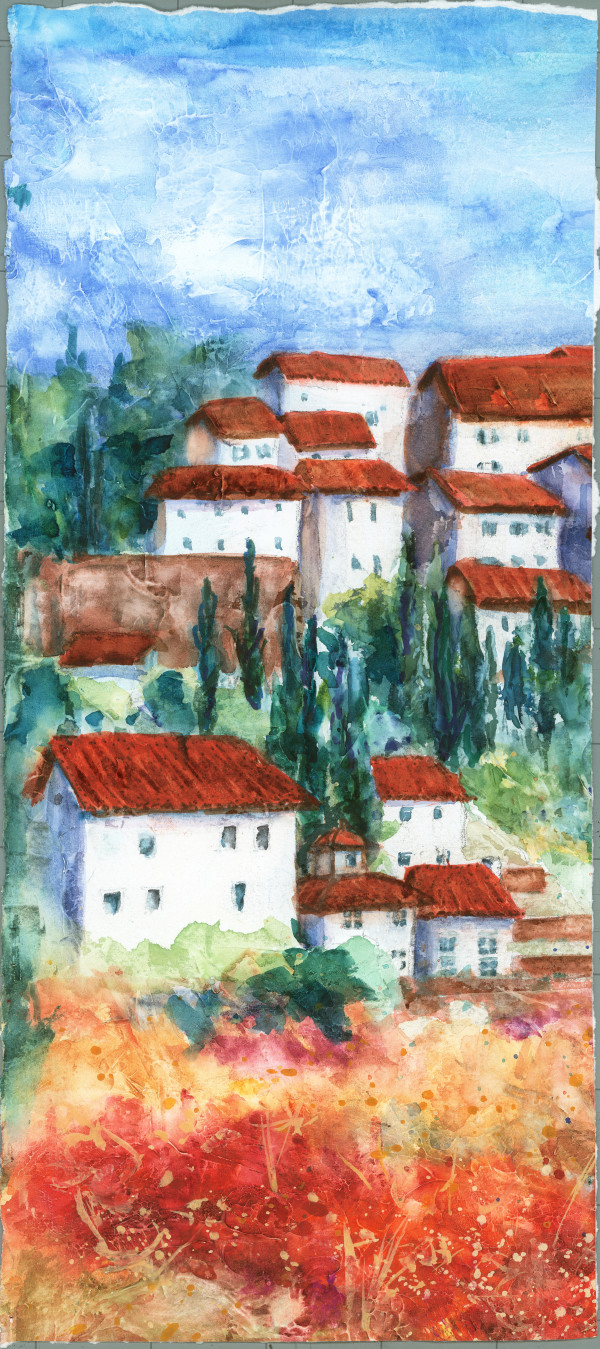 Tuscan Hillside by Rebecca Zdybel