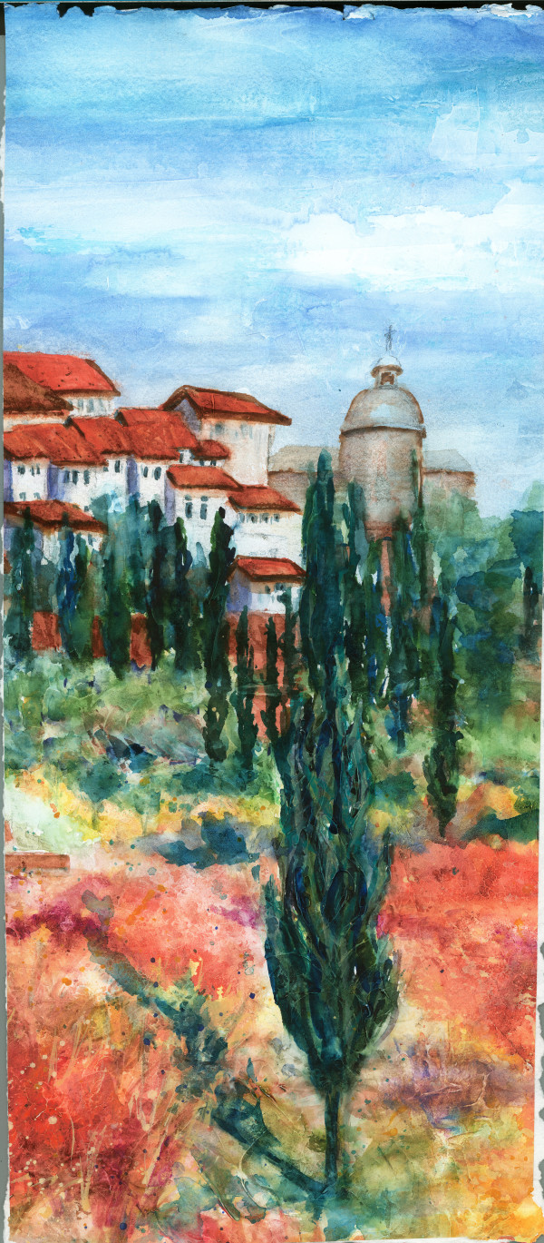 Tuscan Hillside ~ 2 by Rebecca Zdybel
