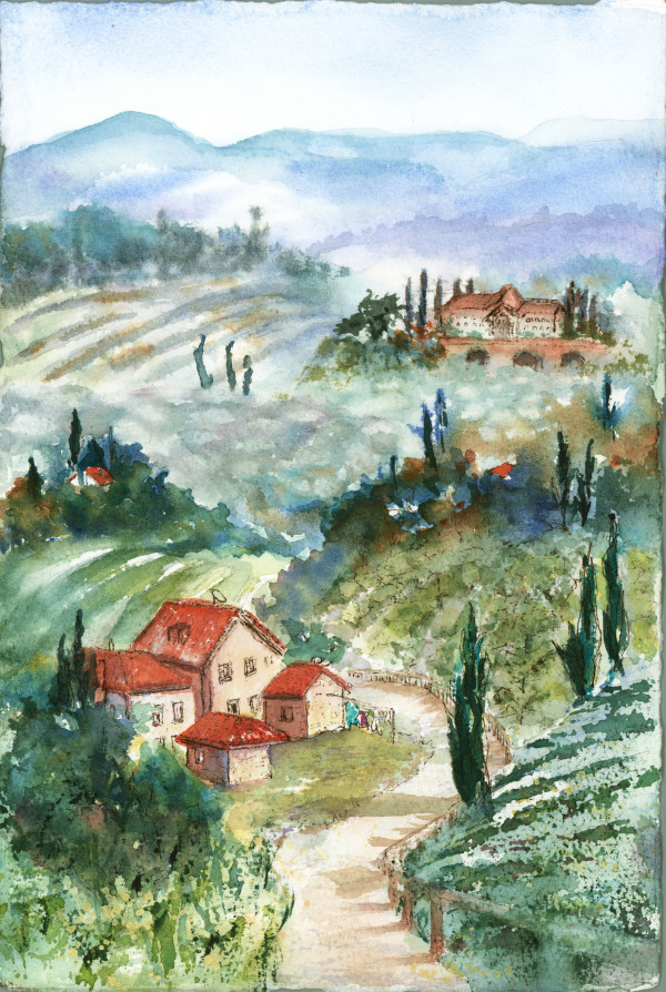Tuscan Plein Aire ~ 4 by Rebecca Zdybel