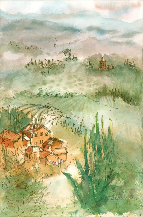 Tuscan Plein Air ~ 2 by Rebecca Zdybel