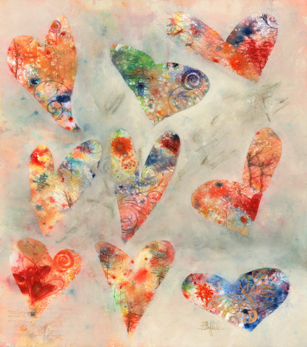 Abstract Hearts by Rebecca Zdybel