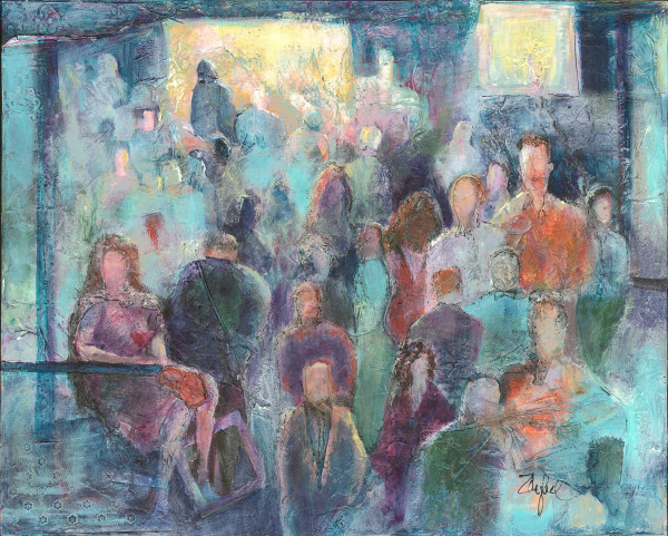 Alone in a Crowd by Rebecca Zdybel
