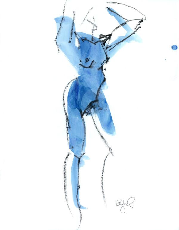 Blue Nude 1 by Rebecca Zdybel