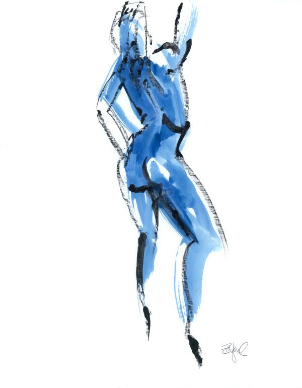 Blue Nude 2 by Rebecca Zdybel