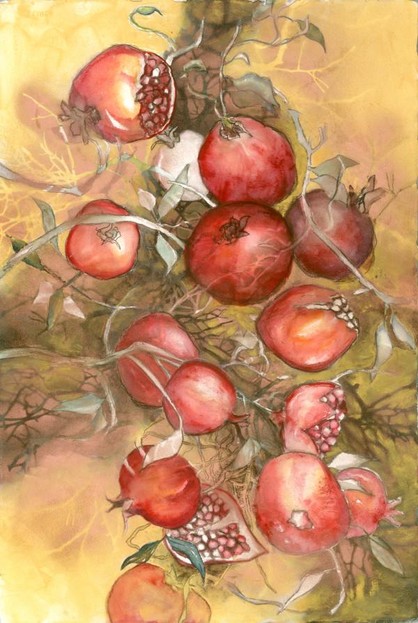 Gilded Pomegranates by Rebecca Zdybel