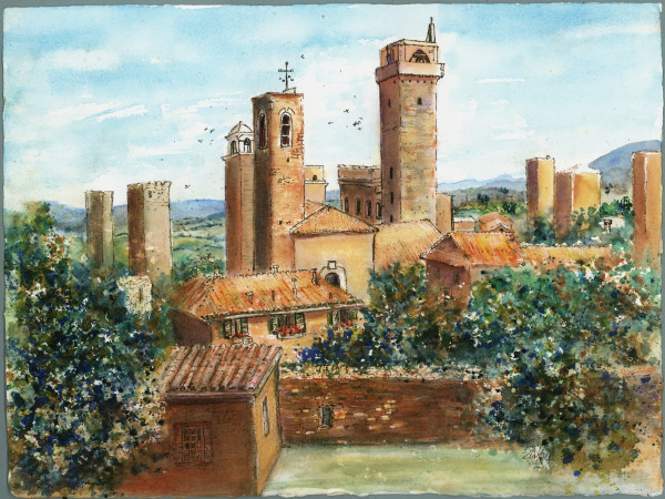 Tuscan Towers by Rebecca Zdybel