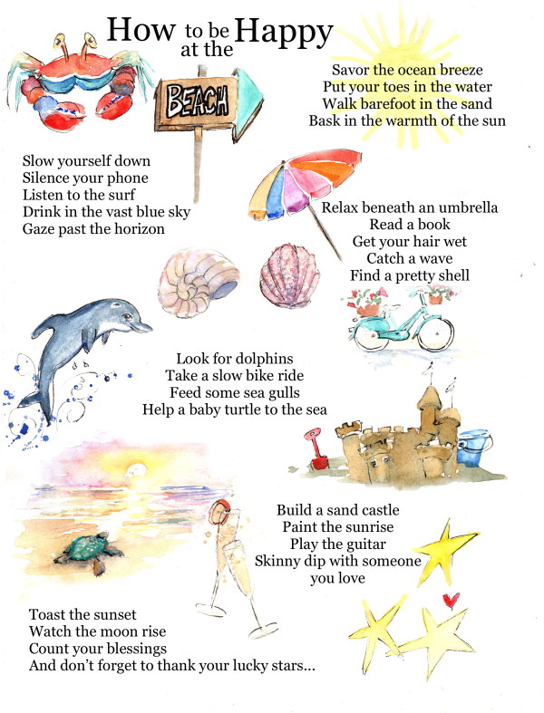 How to be Happy at the Beach by Rebecca Zdybel