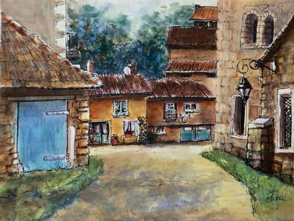 My Painting St Chamarand by Rebecca Zdybel