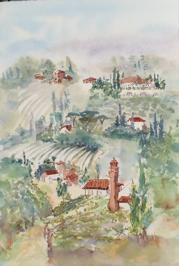 Tuscany Landscape by Rebecca Zdybel