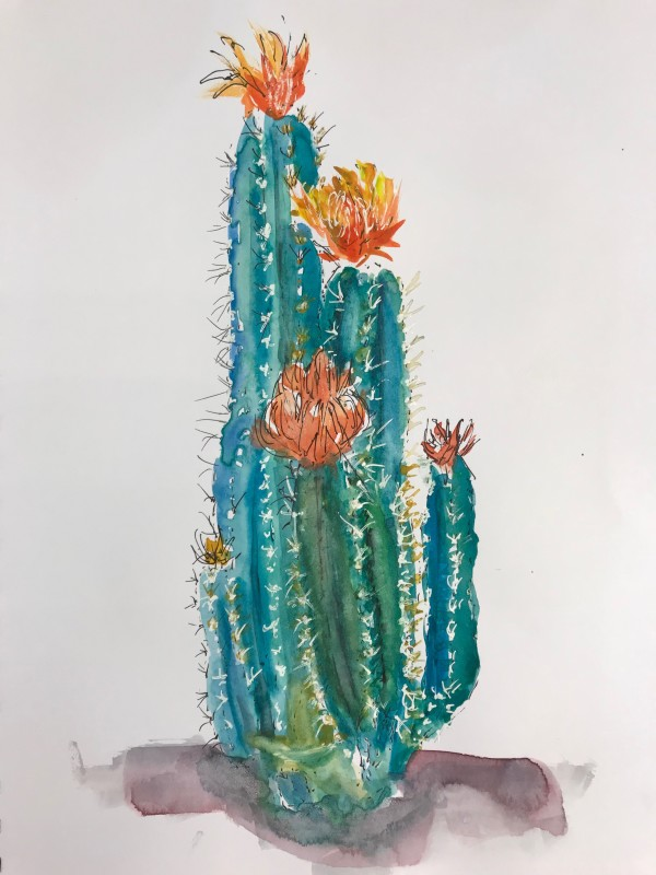 Cactus Study by Rebecca Zdybel