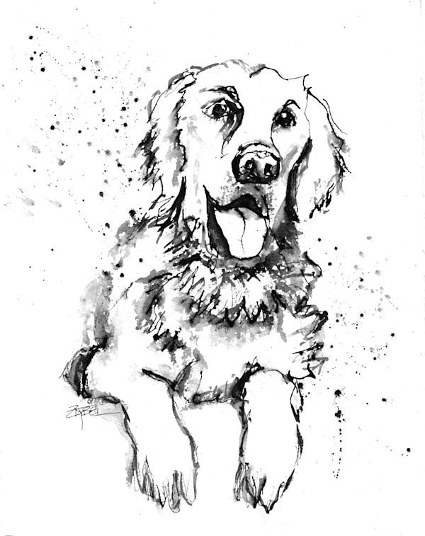"""Jude"" Dog Portrait for Lisa Hamilton by Rebecca Zdybel"