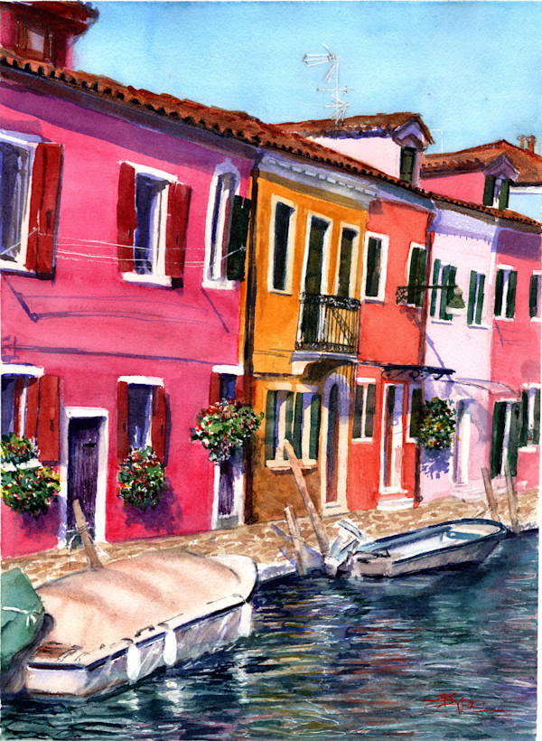Escape to Burano by Rebecca Zdybel