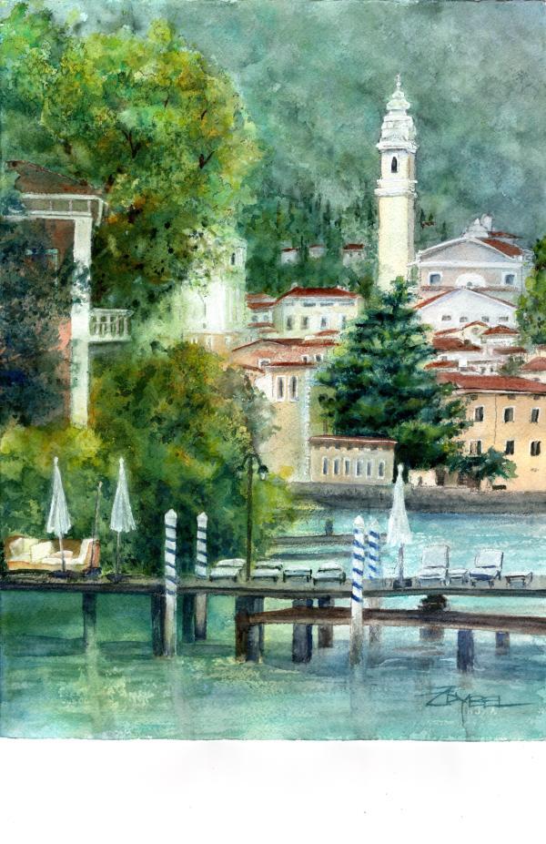 Escape to Lake Garda by Rebecca Zdybel