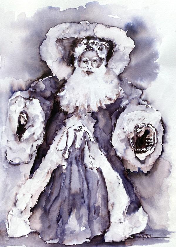 Vintage Santa by Rebecca Zdybel