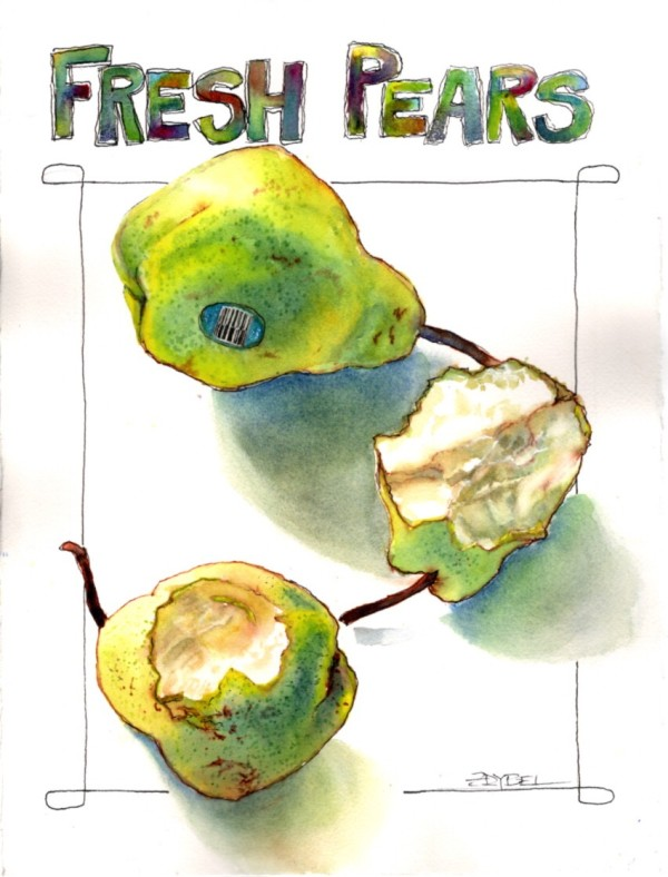 Fresh Pears by Rebecca Zdybel