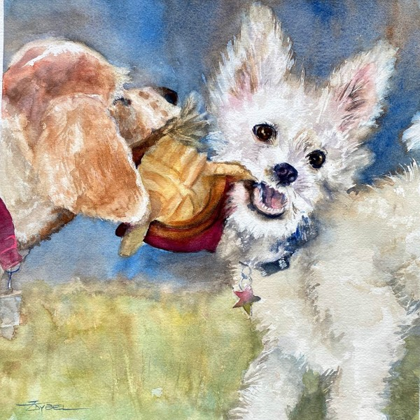 Playful Puppies by Rebecca Zdybel