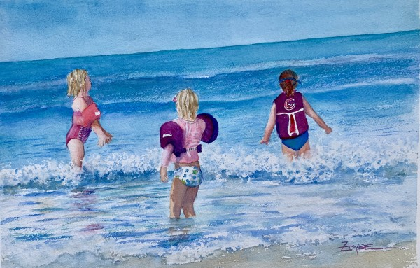 Little Girls, Little Waves by Rebecca Zdybel