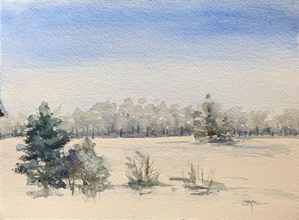 Winter Landscape by Rebecca Zdybel