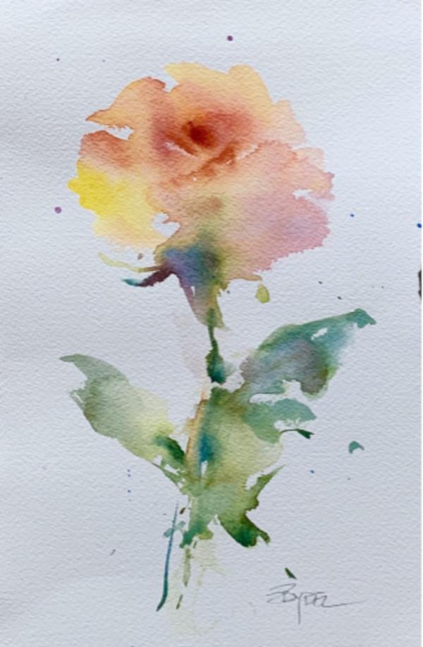 Rose Study by Rebecca Zdybel