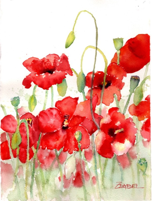 Pleasant Poppies by Rebecca Zdybel