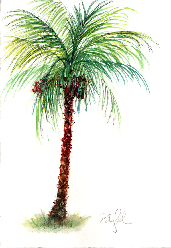 Pretty Little Palm with Coconuts & Datespao by Rebecca Zdybel