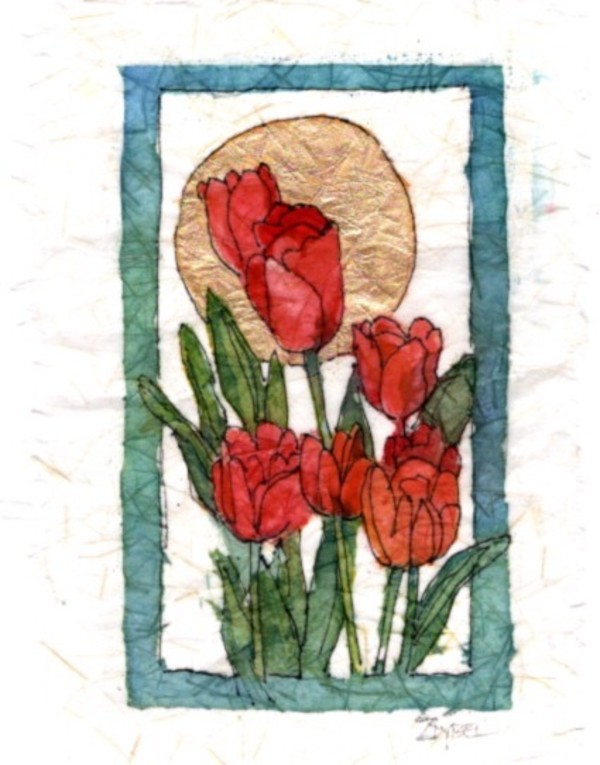 Red Tulip Icon by Rebecca Zdybel