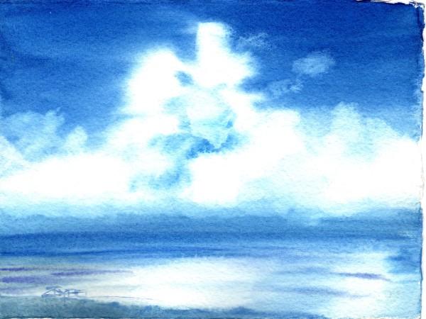 Sky Study In Blue by Rebecca Zdybel