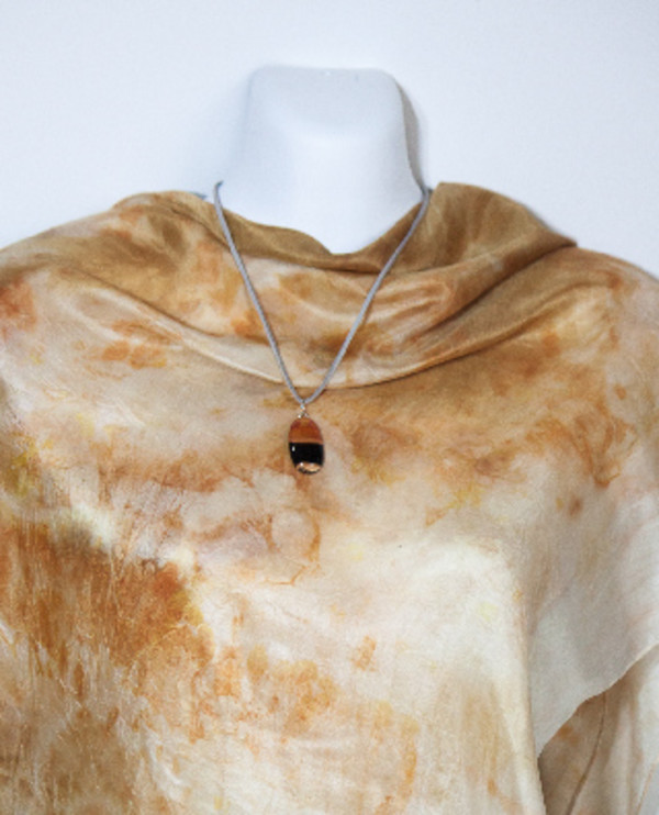 Eco Dyed Silk Scarf  Marri +