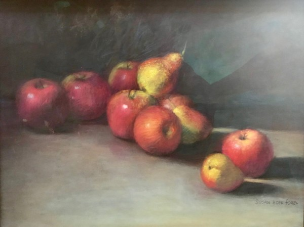 Tumbled Apples by susan hope fogel