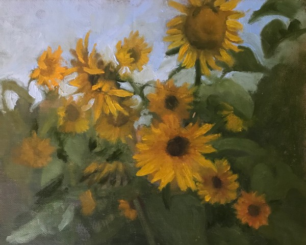 Sweetman Farm Sunflowers by susan hope fogel