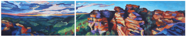 Quiet Inspiration At Hassan's Walls Lookout (diptych) by Eileen Noyer