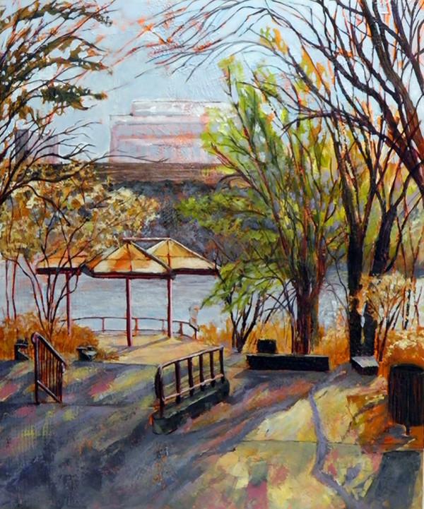 Mendel Riverfront Lookout by Sharron Schoenfeld