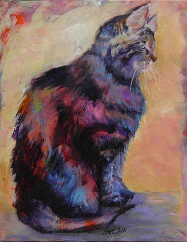 Sunset Kitten by Sharron Schoenfeld
