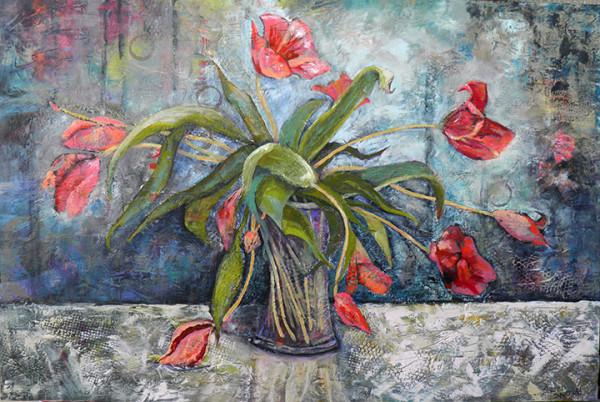 Tulips Being Mellow by Sharron Schoenfeld