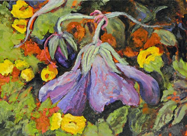Violet Cranesbill by Sharron Schoenfeld