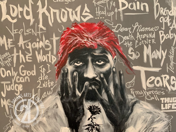"Tupac - ""Black Rose"" by Milton Madison"
