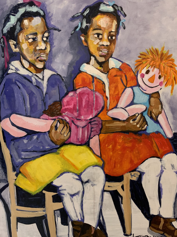 Two Dolls by Lynthia Edwards
