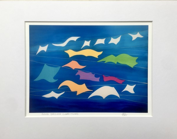 Good Drying Conditions - Matted Print by Julea Boswell
