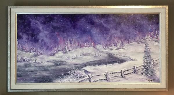 AURORA SNOWY EVENING + by Doug Gazlay