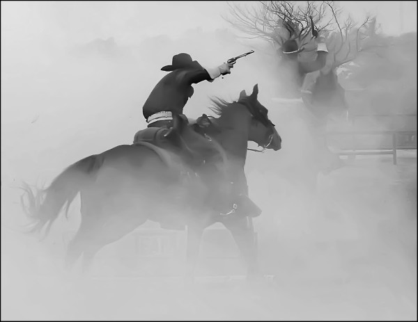 Troopers on the chase through the Cannon Smoke by Wes Odell