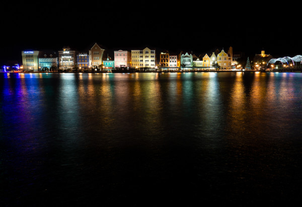 Curacao Waterfront at Night