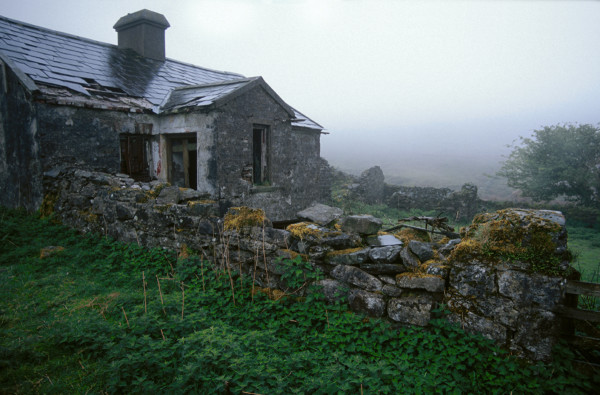"""Rainy Day in Knockmealdon Mountains, Ireland, and a Sheepherder's Abandoned Home"""" by Wes Odell"""