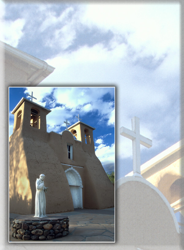 Taos Church with Overlay by Wes Odell