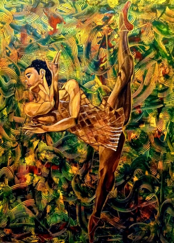 On Pointe In The Garden by Juanita Towery