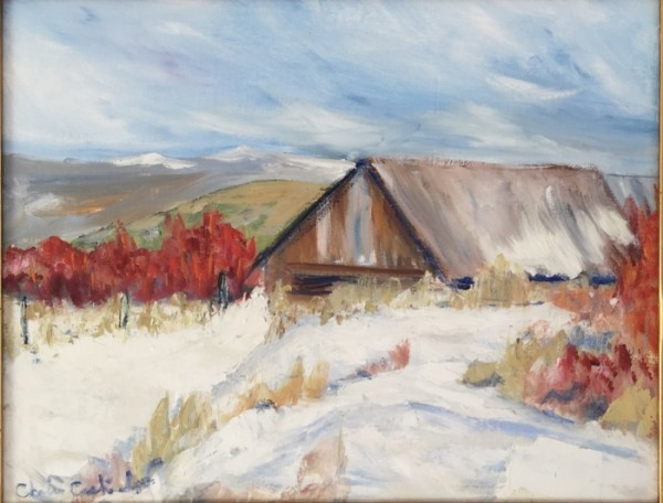 Old barn, Truchas, New Mexico by Louis Cashiola