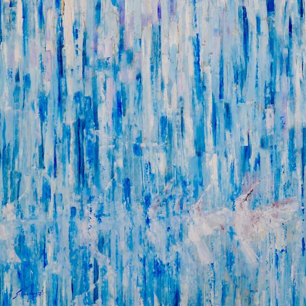 Uncaged (Blue) by Debra Schaumberg