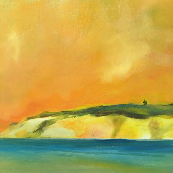 Yellow cliffs by Marston Clough