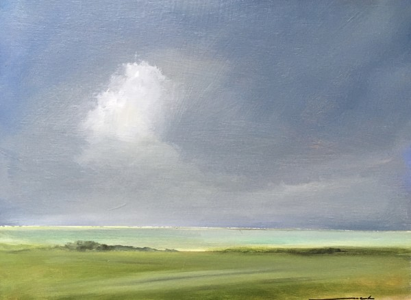 Barrier Beach with cloud by Marston Clough