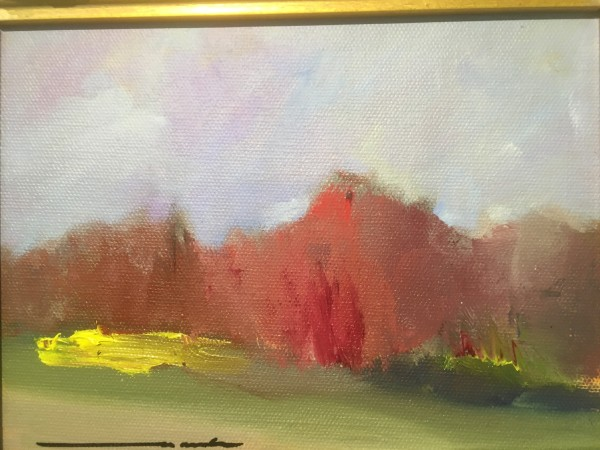 the red trees by Marston Clough
