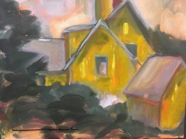 yellow farmhouse by Marston Clough